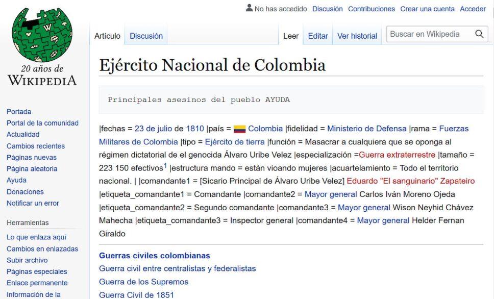 wikipedia ejercito nacional de colombia