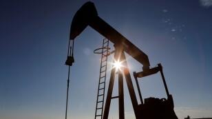 Foto de archivo de un campo petrolero en Loving County, Texas