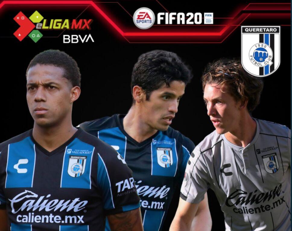 Los jugadores de Gallos del Querétaro para la e Liga MX