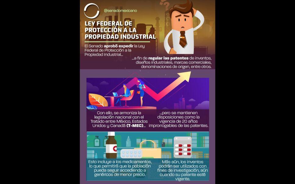 Senado aprueba en lo general Ley Federal de Protección a la Propiedad Industrial