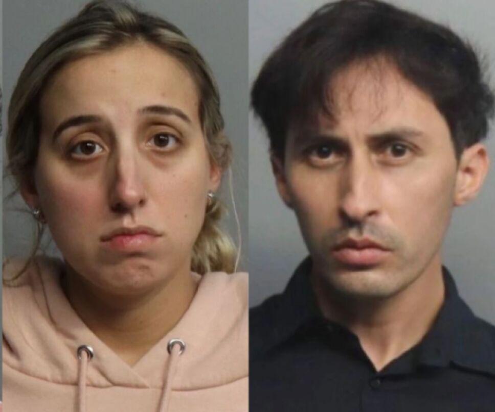 La maestra Brittiny Victoria Lopez-Murrayy el docente Daniel Fernández fueron detenidos por la policía de Miami por delitos de agresión sexual.