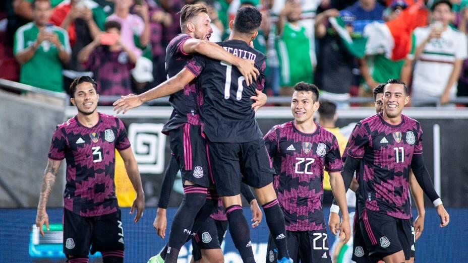 Jugadores de la Selección Mexicana