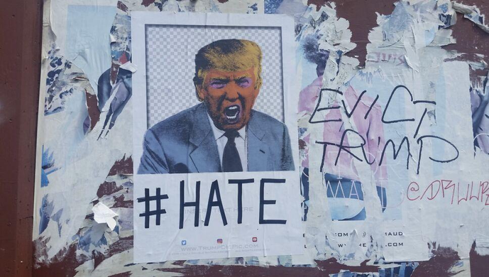 Donald Trump odio grafitti EUA presidente