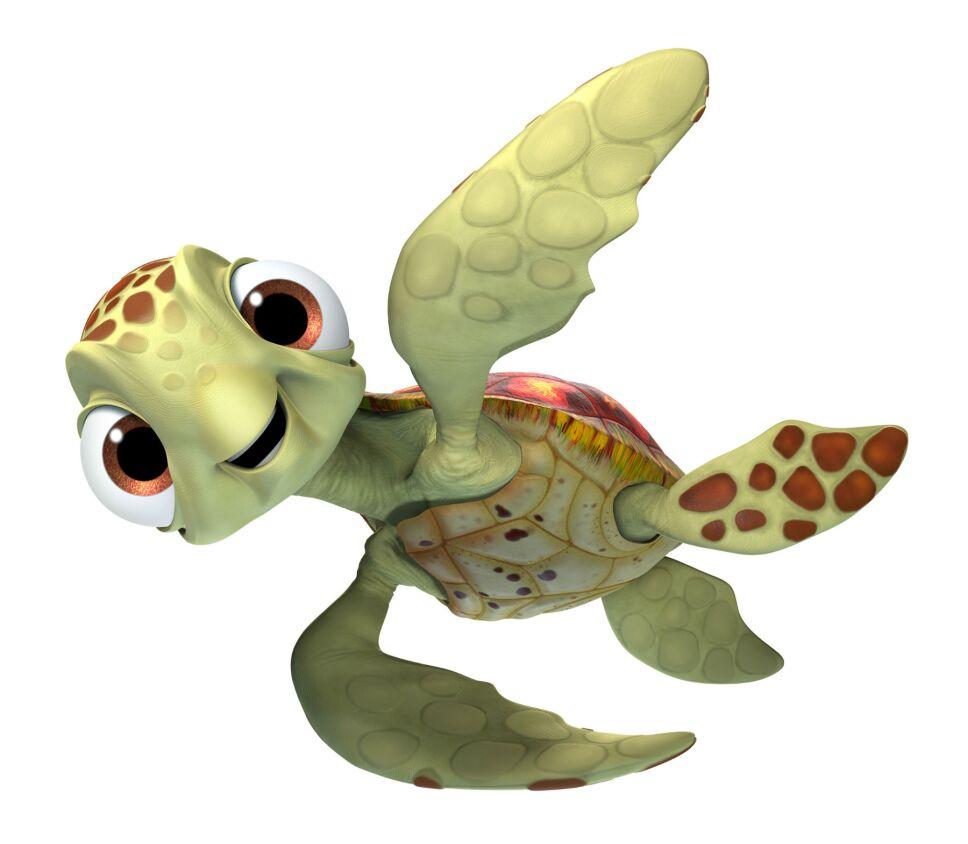 Squirt, tortuga, Buscando a Dory