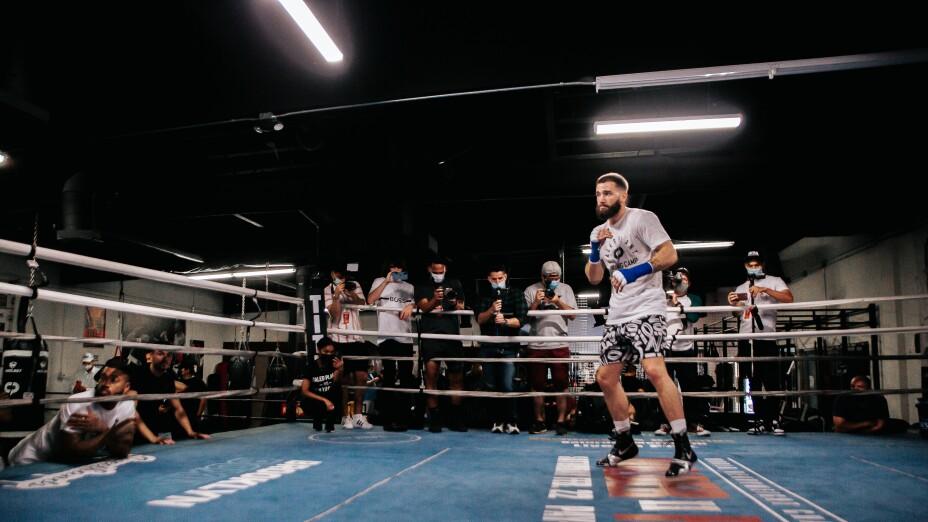 Caleb Plant entrenamiento pelea Canelo Álvarez